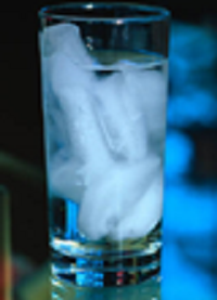 glass of cube water