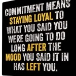 commitment and loyalty